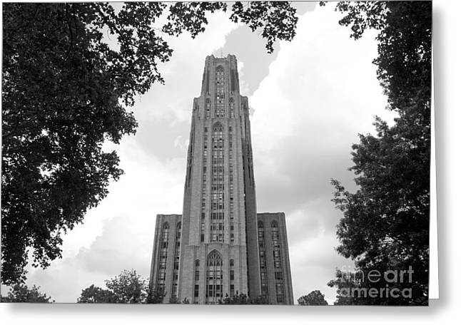 Matera Greeting Cards - University of Pittsburgh Cathedral of Learning Greeting Card by University Icons