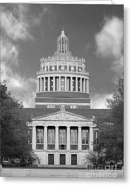 Rochester Greeting Cards - University of Rochester Rush Rhees Library Greeting Card by University Icons