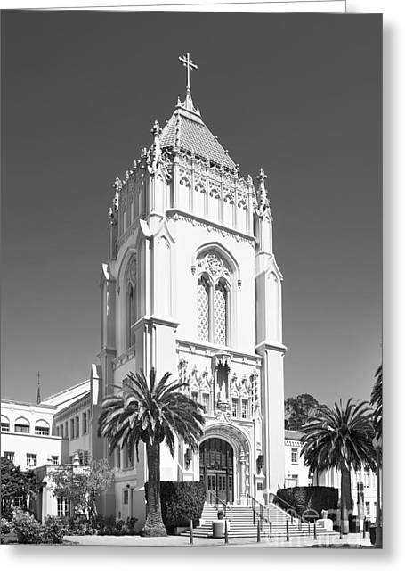 Occasion Greeting Cards - University of San Francisco Lone Mountain Tower Greeting Card by University Icons