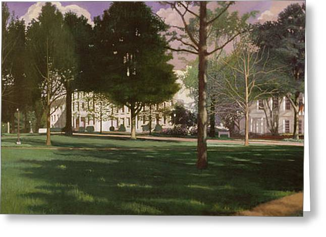 Blue Sky Greeting Cards - University of South Carolina Horseshoe 1984 Greeting Card by Blue Sky