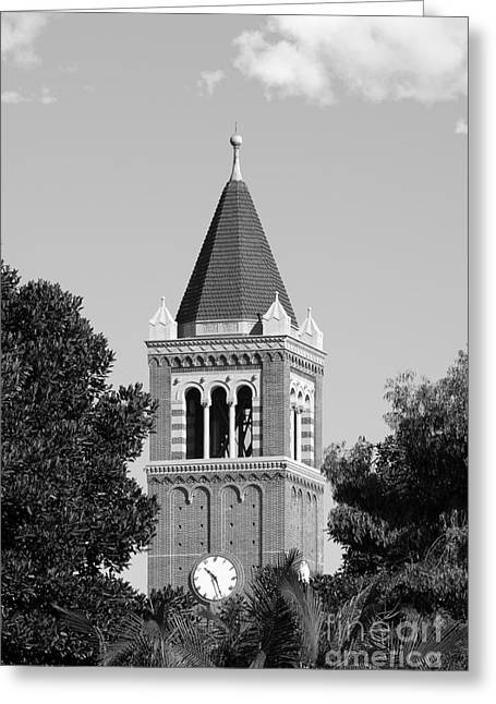 Association Of American Universities Greeting Cards - University of Southern California Clock Tower Greeting Card by University Icons