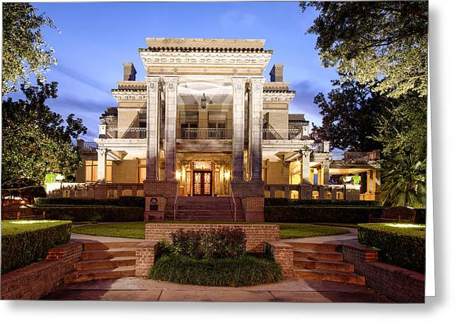 Historical Buildings Greeting Cards - University of St. Thomas Link Lee Mansion - Montrose Houston Texas Greeting Card by Silvio Ligutti