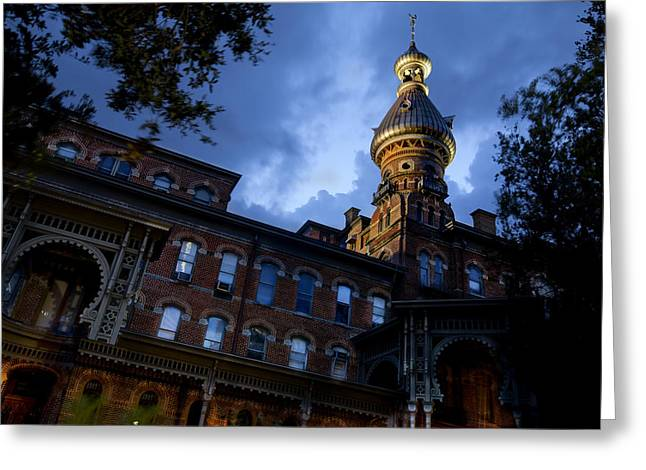 Window Of Life Greeting Cards - University Of Tampa Greeting Card by Al Hurley