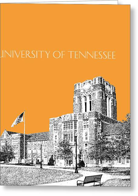 Duke Greeting Cards - University of Tennessee - Orange Greeting Card by DB Artist