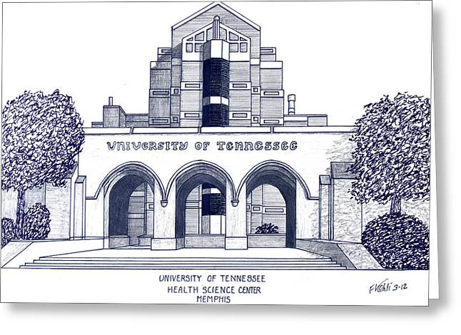 Pen And Ink Framed Prints Greeting Cards - University of Tennessee Greeting Card by Frederic Kohli