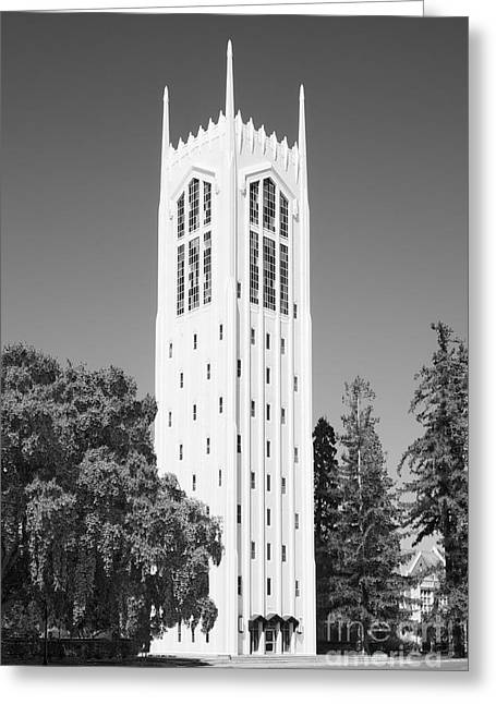 Occasion Greeting Cards - University of the Pacific Burns Tower Greeting Card by University Icons