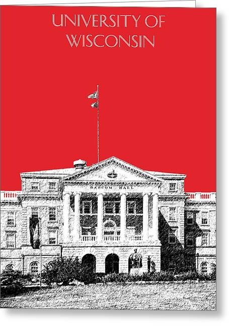 Duke Greeting Cards - University of Wisconsin - Red Greeting Card by DB Artist