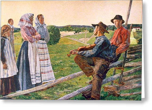Wooden Fence Greeting Cards - Unknown Greeting Card by Anders Leonard Zorn