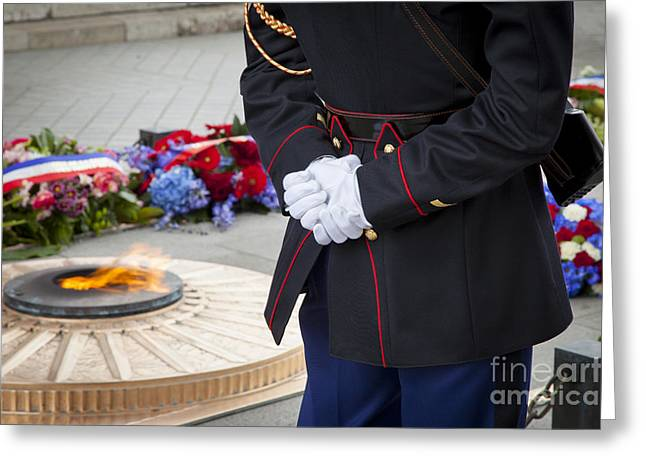 Eternal Flame Greeting Cards - Unknown Hero Greeting Card by Brian Jannsen
