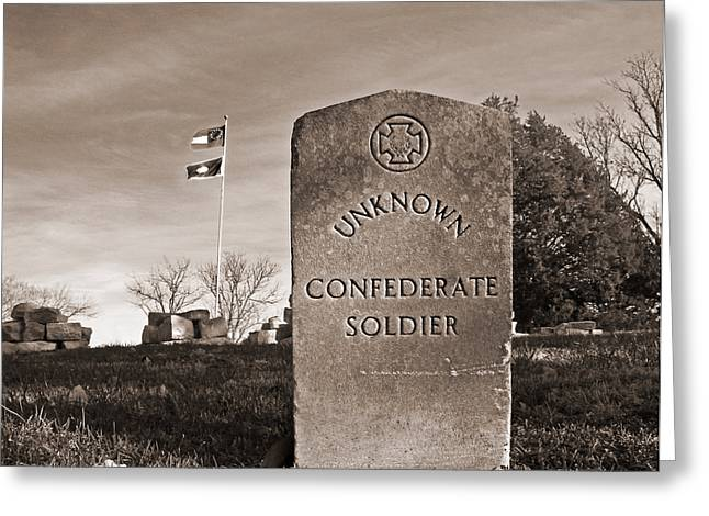 Tennessee Historic Site Photographs Greeting Cards - Unknown Soldier Greeting Card by Steven  Michael