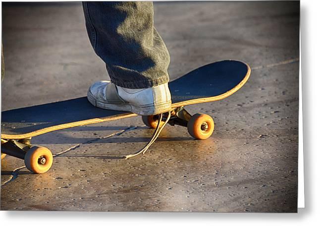 Skates Mixed Media Greeting Cards - Unlaced Greeting Card by Angelina Vick