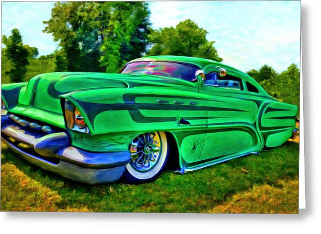 Mercury Hot Rod Greeting Cards - Unleaded  Greeting Card by Michael Pickett