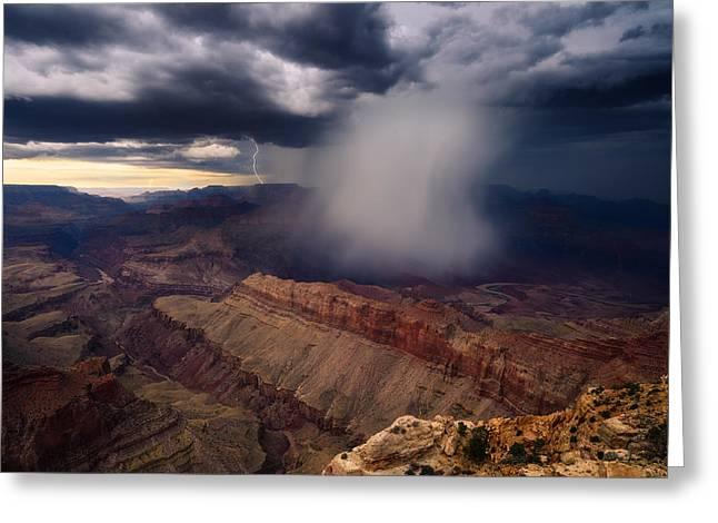Arizona Lightning Greeting Cards - Unleashed Greeting Card by Adam  Schallau