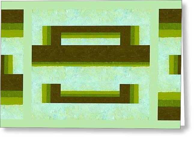 Geometric Art Greeting Cards - Unlocking the Way Greeting Card by Michelle Calkins