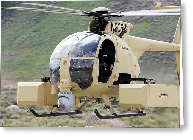 Unmanned Little Bird Helicopter Greeting Card by Us Navy