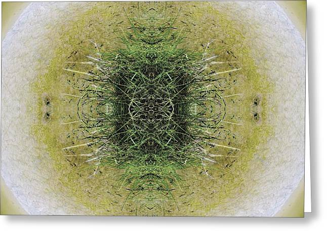 Recently Sold -  - Fractal Orbs Greeting Cards - Unnatural 6.1 Greeting Card by Giovanni Cafagna