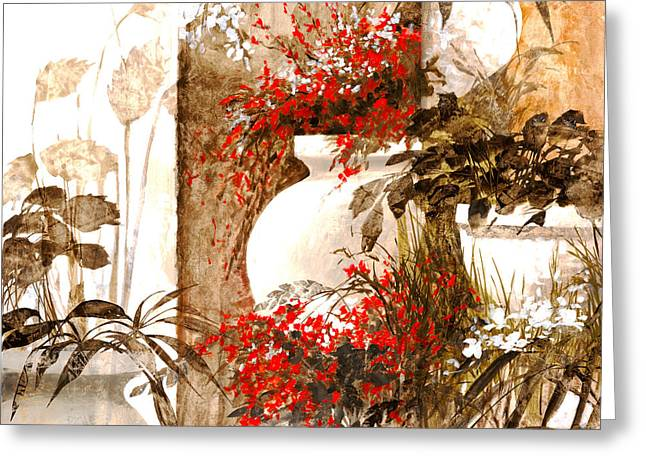 Composition Greeting Cards - Uno Bianco Greeting Card by Guido Borelli