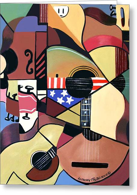 Cubist Greeting Cards - Unpluged Greeting Card by Anthony Falbo