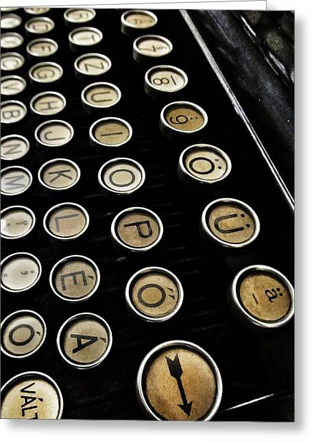 Typewriter Greeting Cards - Unsaid Words Greeting Card by Marianna Mills