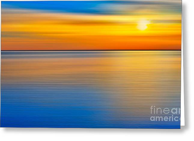 Surreal Landscape Greeting Cards - Unseen Sunset - a Tranquil Moments Landscape Greeting Card by Dan Carmichael