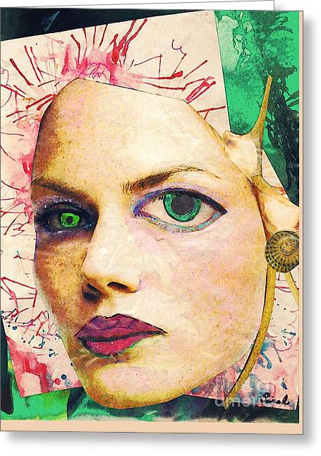 Unsettling Greeting Cards - Unsettling Gaze Greeting Card by Sarah Loft