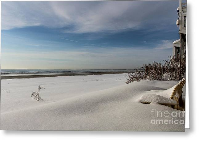 Maine Lighthouses Greeting Cards - Unspoiled Winter Morning Greeting Card by Joe Far Photos