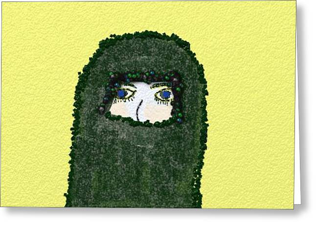 Burkas Greeting Cards - Unspoken Greeting Card by Rosemary Armel
