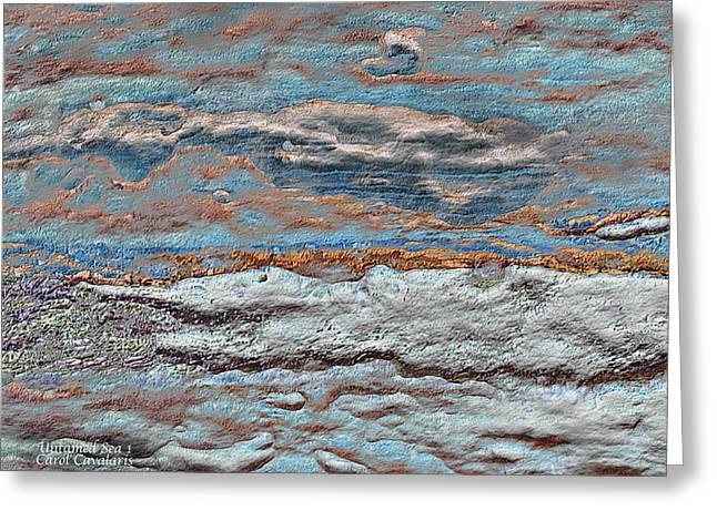 Ocean Moods Greeting Cards - Untamed Sea 1 Greeting Card by Carol Cavalaris