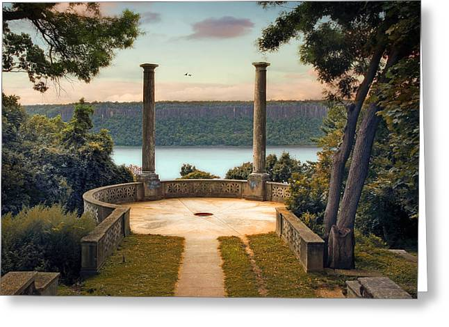 Grecian Greeting Cards - Untermyer Vista Greeting Card by Jessica Jenney