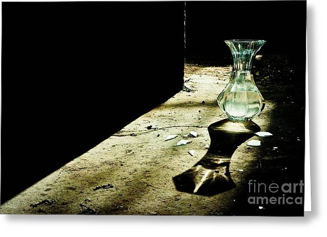 Broken Vase Greeting Cards - Until youre ready to break Greeting Card by Kirsti H