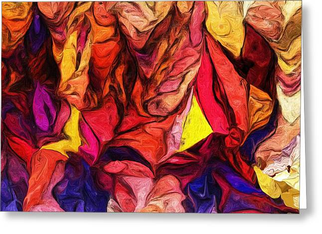 Abstract Digital Greeting Cards - Untitled 081113 Greeting Card by David Lane