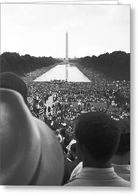 March On Washington Greeting Cards - Untitled Greeting Card by 1963 March On Washington