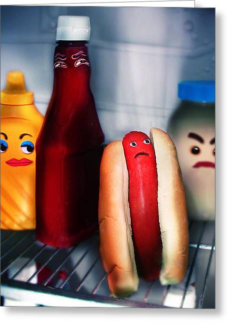 Hot Dog Greeting Cards - Hot dog Greeting Card by Diane Bradley