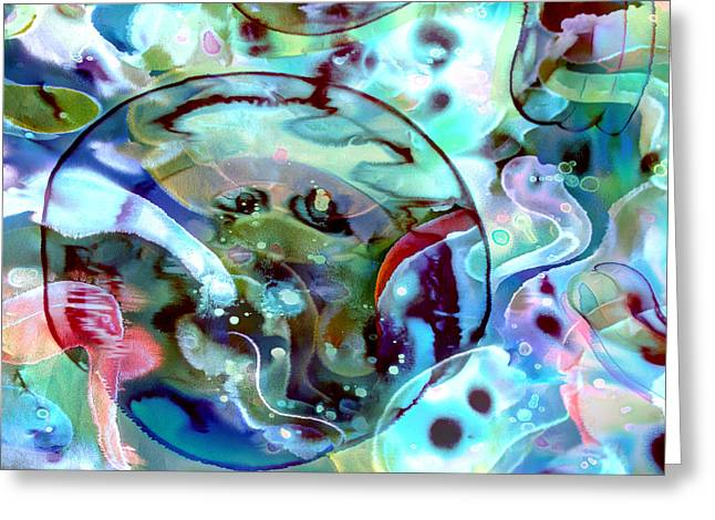 Crystal Blue Persuasion Greeting Card by Odessa Christiana