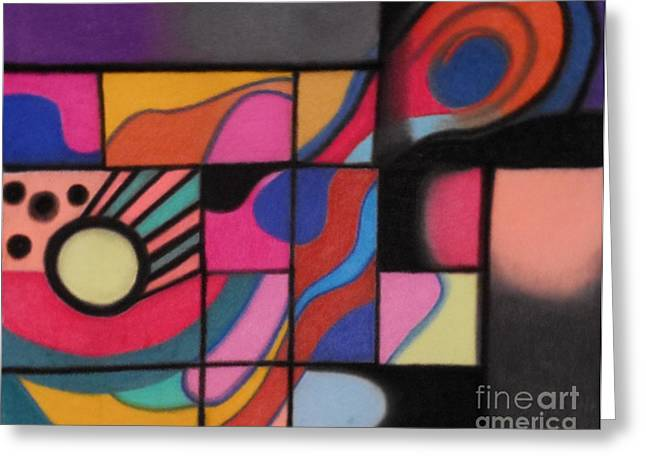 Graphic Pastels Greeting Cards - Untitled 7 Greeting Card by Christine Perry