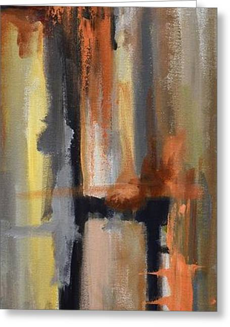 Bedroom Art Greeting Cards - Autumn Abstract Greeting Card by Donna Tuten