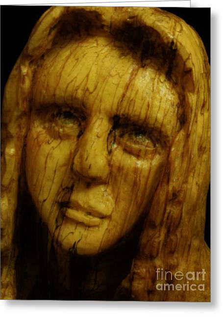 Chainsaw Carving Sculptures Greeting Cards - Untitled Greeting Card by John Sekela