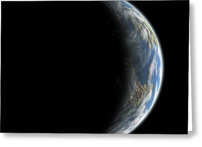 Luminous Globe Greeting Cards - Untitled Greeting Card by Marc Ward