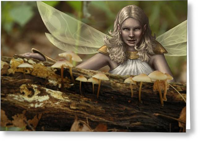 Fantasy Greeting Cards - Untitled Greeting Card by Mark Zelmer