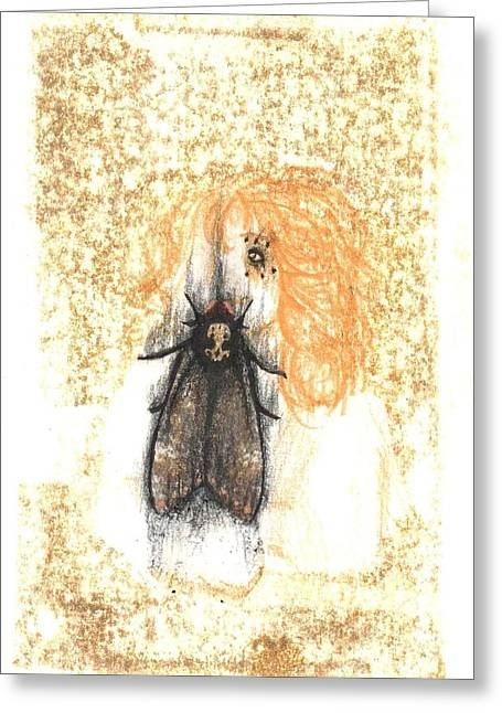 Transfer Drawings Greeting Cards - Untitled Memory Greeting Card by Francene Higman