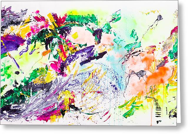 Abstract Art Large Scale Greeting Cards - Untitled Number Eight Greeting Card by Maria  Lankina