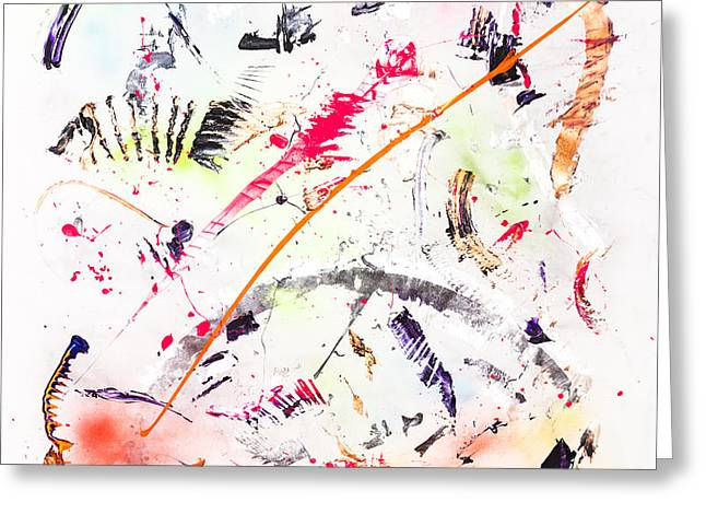 Large Scale Greeting Cards - Untitled Number Seven  Greeting Card by Maria  Lankina