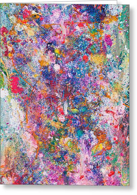Large Scale Greeting Cards - Untitled Number Twenty Seven Greeting Card by Maria  Lankina