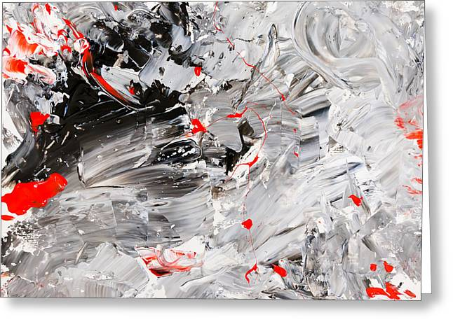 Large Scale Greeting Cards - Untitled Number Twenty Two Greeting Card by Maria  Lankina