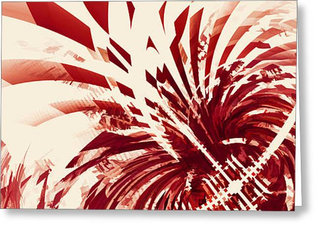 Untitled Red Greeting Card by Scott Norris