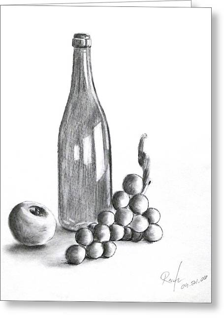 Untitled Still Life Greeting Card by RB McGrath