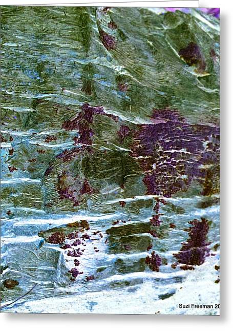 Nature Abstract Tapestries - Textiles Greeting Cards - Untitled Greeting Card by Suzi Freeman