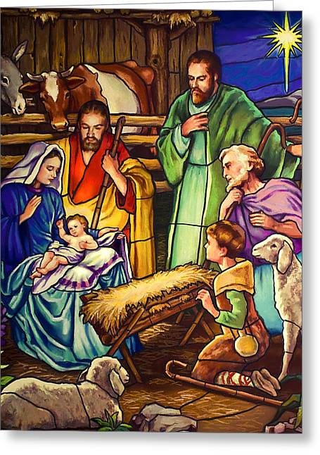Star Of Bethlehem Greeting Cards - Unto Us A Son Is Given Greeting Card by Jean Hildebrant