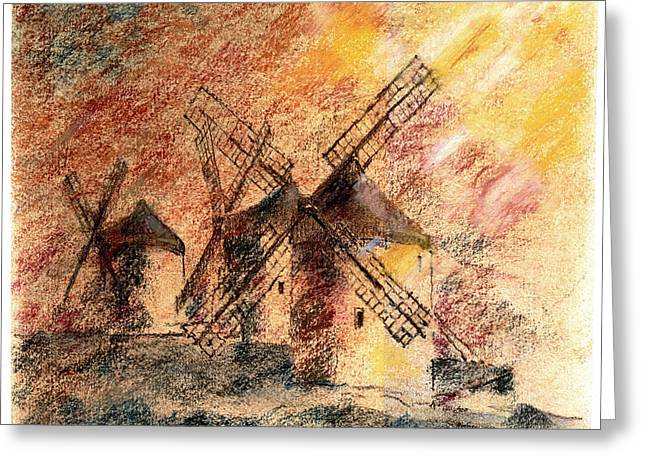 Mills Pastels Greeting Cards - Untouchable Greeting Card by Viacheslav Rogin