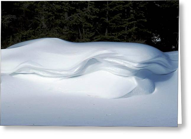 Snow Cornice Greeting Cards - Untouched Cornice Greeting Card by Nina Donner